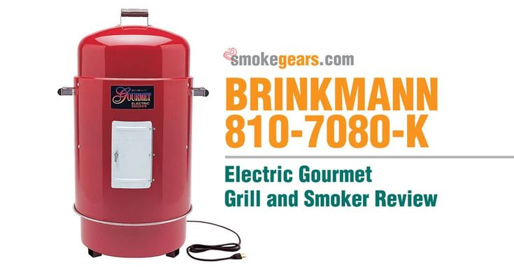 Brinkmann Electric Smoker: Brinkmann 810-7080-K Gourmet Electric Grill