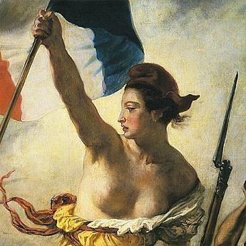 Marianne...Symbole de notre République. Incarnant la jeunesse, la beauté le courage et la liberté. Immortalisée par Delacroix drapeau à la main et poitrine au vent.