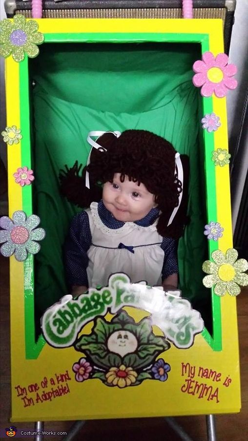 Cabbage patch doll costume baby halloween costumes halloween costumes and cabbages for Cabbage patch costumes
