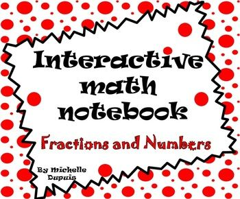 This interactive math notebook is a valuable tool that will engage students. It's a hands-on way for kids to get involved in learning numbers and fractions.