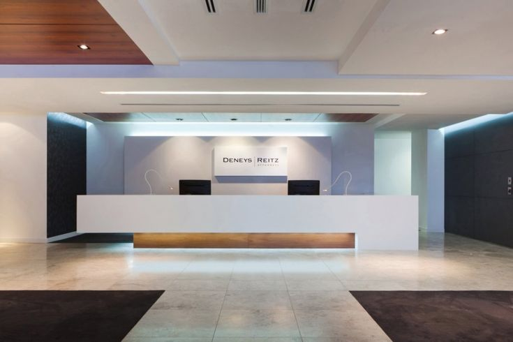 Modern Office Reception Backdrop Design