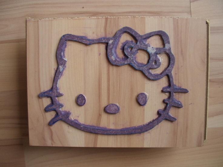 Big Hallo Kitty Wall Stamp/Recycle Your Stuff!!!