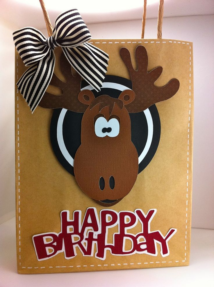 Obsessed with Scrapbooking: It's A Moose Birthday Bag with the Go Canada Cricut Cartridge