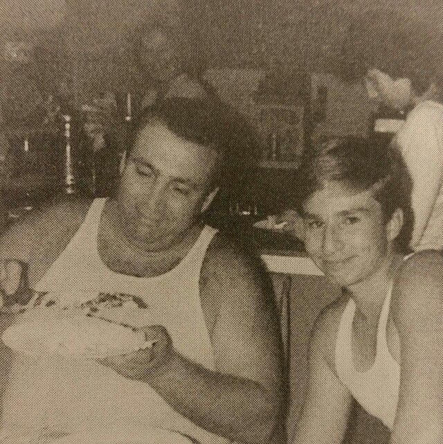 Roy Demeo and son Albert 15th birthday