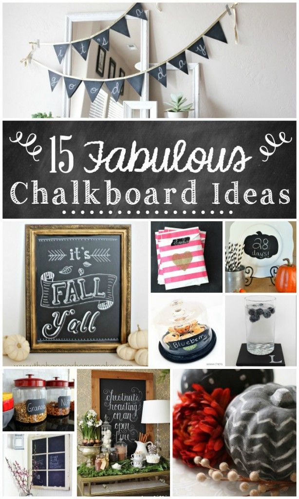 75 best images about chalkboard paint ideas on pinterest for Chalkboard paint ideas