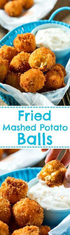 Crispy Fried Mashed Potato Balls - a great way to use up leftover mashed potatoes.