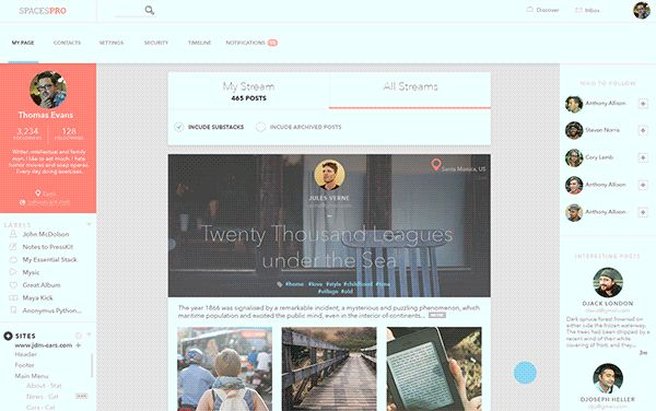 Public Page by Sergey Valiukh, via Behance