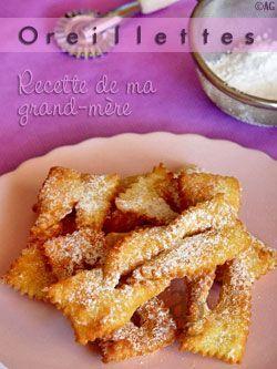 Oreillettes de Mardi Gras - http://www.750g.com/recettes_bugnes.htm  http://www.750g.com/recettes_mardi_gras.htm  http://www.750g.com/recettes_beignets.htm  #mardigras #750grammes #oreillettes #beignets