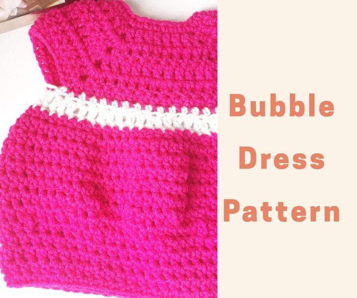 #pattern #crochet #baby #dress #pink #babyshower #crochetpattern #babygirl #preemie #gifts