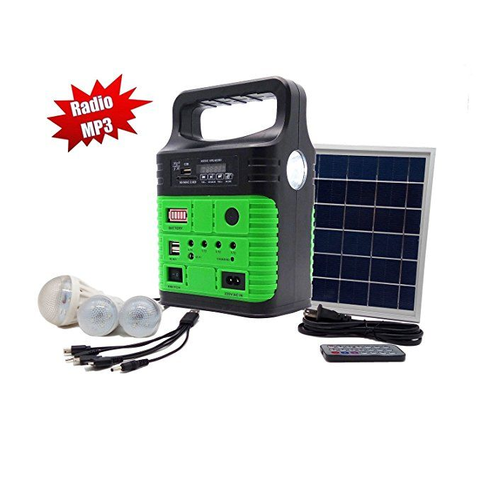 10 Watt Solar Generator Portable Kit Power Inverter Solar Generator System For Home Camping 9000mah Rechargeable Best Solar Panels Solar Panels Solar Heating
