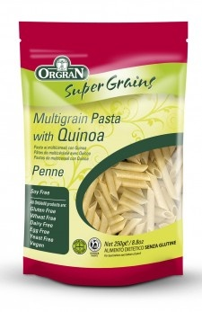 Multigrain Penne pasta made with quinoa! Gluten & Wheat free, Soy free, Egg free, Dairy free!