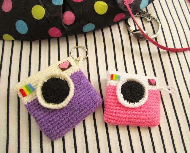 Instagram inspired crochet coin purse. Free pattern!!
