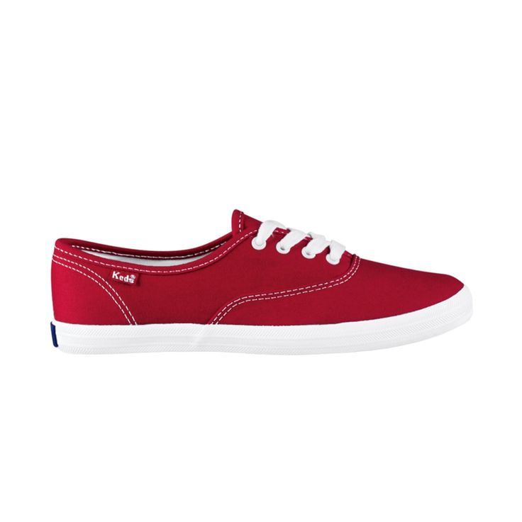 $40 Womens Keds Champion Basic Casual Shoe, Red Journeys Shoes