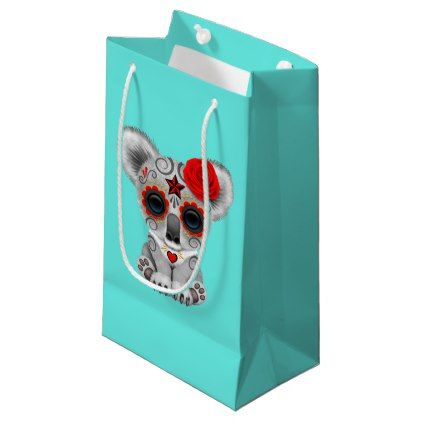 #Red Day of the Dead Baby Koala Small Gift Bag - #Halloween happy halloween #festival #party #holiday