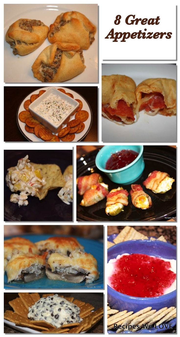 As the holiday come around there seems to always be a reason to get together and with those gathering come the need from some GREAT and EASY appetizers. Here are 8 of our favorites