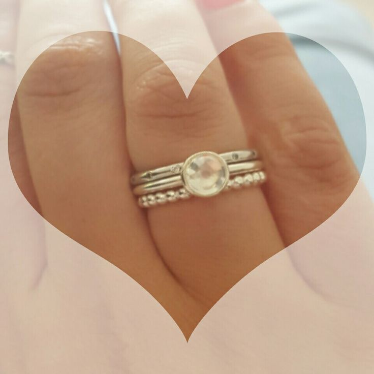 Beautiful pandora stack rings! ❤                                                                                                                                                                                 More