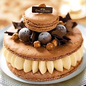 Macaron de rêve by Dalloyau: Fudge macaron, fudge creme, hazelnuts...yummy