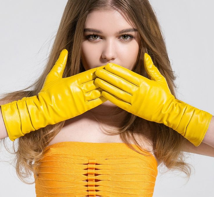 Vibrant Yellow Gloves!!!