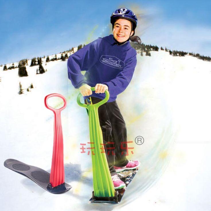 Japy Skate 2015 Inverno Pieghevole Neve Slitte Snowboard scooter Da Neve sci Bordo Macchina Per I Bambini Giocattolo di Alta Qualità di Trasporto Libero