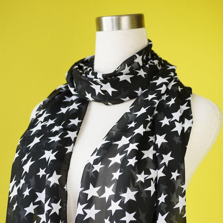 Star print scarf chiffon scarf causal long scarf shawl belt white star in black. $9.50, via Etsy.Scarf Causal, Causal Long, White Stars, Long Scarf, Prints Scarf, Starry Scarf, Stars Prints, Scarf Chiffon, Chiffon Scarf