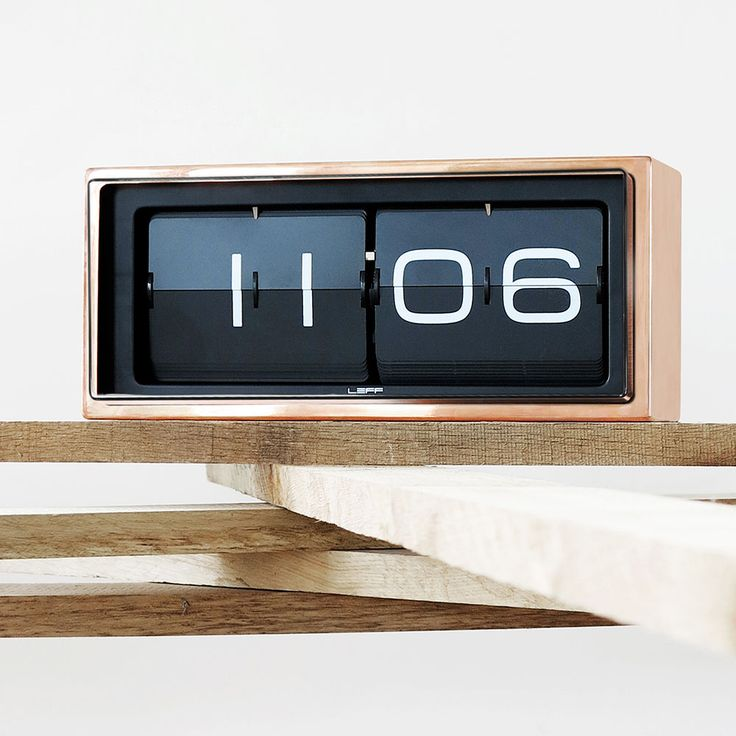 The Brick Clock from LEFF Amsterdam was designed by Dutch designer Erwin Termaat. Designed using a unique combination of materials and graphics, the clock is a contemporary interpretation of a traditional way of displaying time - the flip clock.
