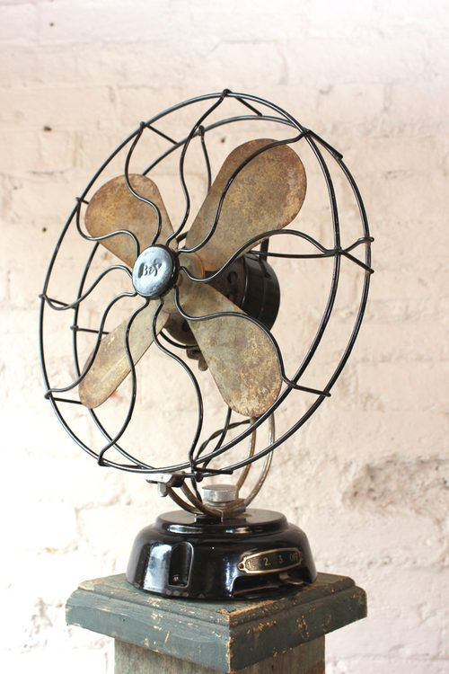 Antique Stylish Operational Art Deco Beanwy Electric Fan