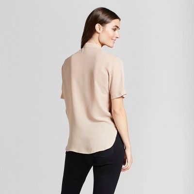 Women's Printed Foil Sparkle Blouse - Layered with Love Gold S