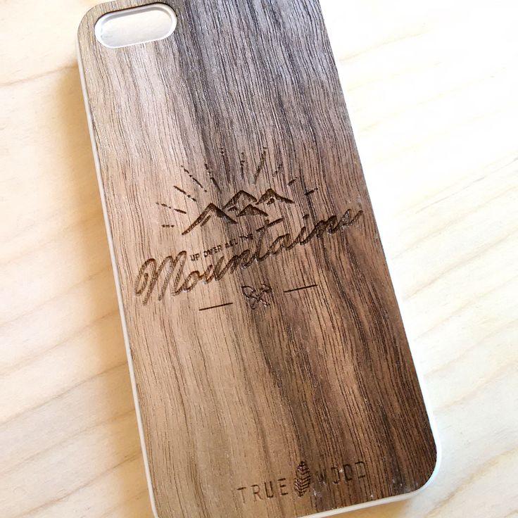 "iPhone 5 case ""Mountains"" with thin wooden panel. #iphonecase #iphone5 #iphonedesign #travel #travelphone  Пластиковый чехол для iPhone 5 ""Mountains"" с тонкой деревянной панелью."