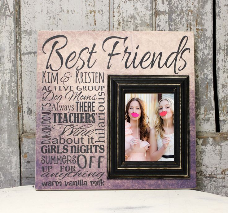 best friend picture frame best friend gift sister gift bridesmaid gift maid of honor 16x16 with 5x7 frame