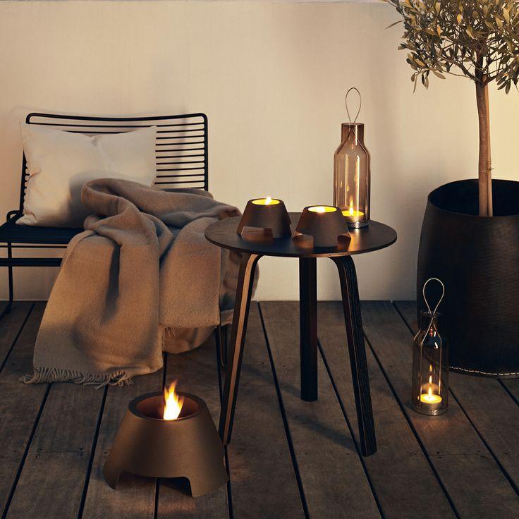 #design3000 Kühler Teelichthalter, der für eine warme Atmosphäre sorgt.