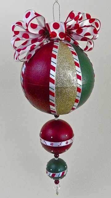 Lisa Liza Lou Designs: Giant Christmas ornament with Americana Multi-Surface paints