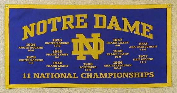 Gotta love the tradtion of Notre Dame Football!!! Lets go IRISH!!