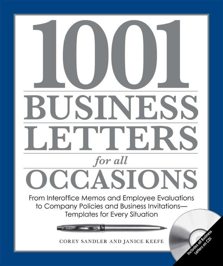 1001 Business Letters for All Occasions From Interoffice Memos - inter office communication letter