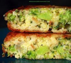 Placuszki z brokułów i kaszy jaglanej - przepisy.net