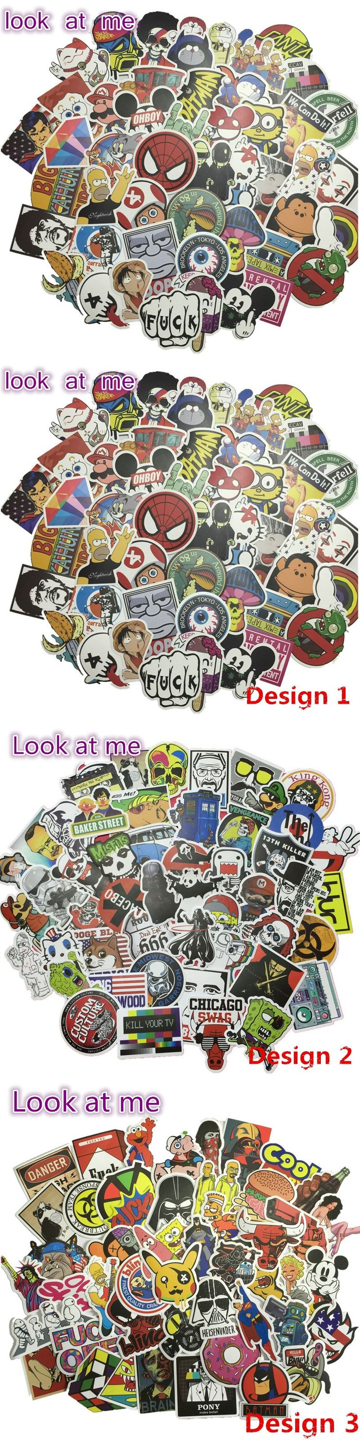 Design your own car sticker uk - 50 Pcs Mixed For Kids Toy Home Decor On Laptop Sticker Jdm Car Styling Skateboard Luggage Snowboard Fridge Motorcycle Sticker
