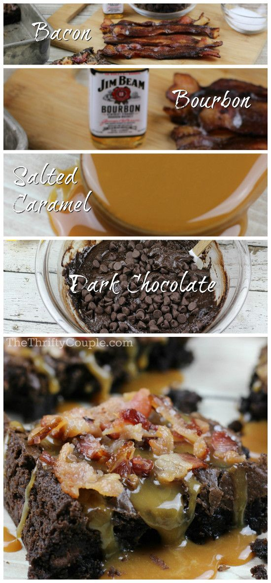 Bacon, Bourbon, Salted Caramel, Dark Chocolate Brownies Recipe