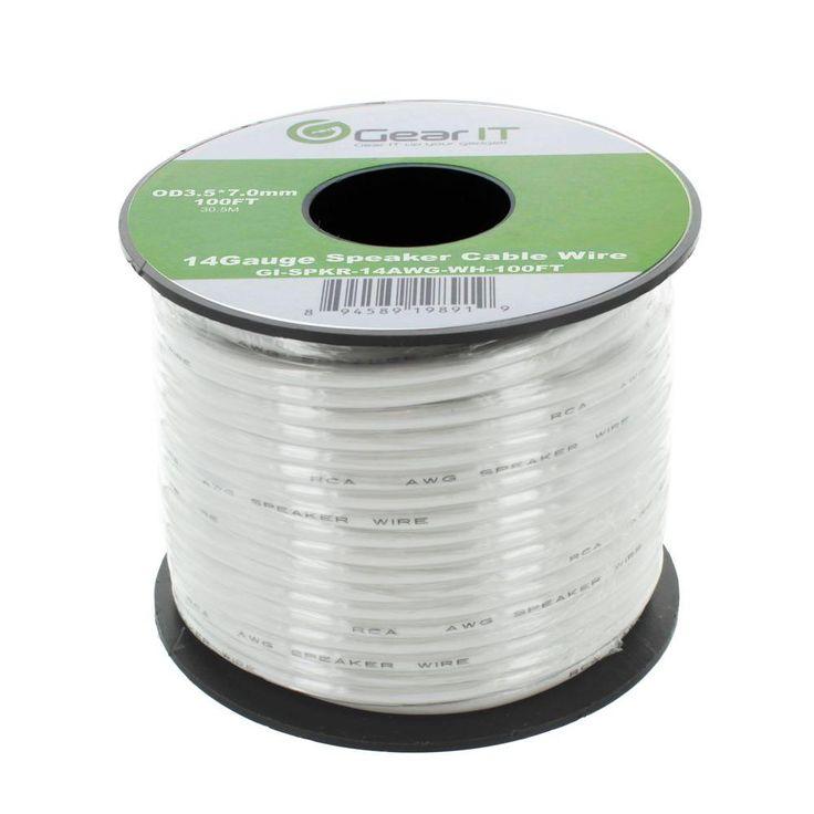 100 ft. 14-Gauge Speaker Wire - White