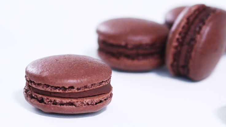 French Chocolate Macarons - delicate chocolaty cookies filled with chocolate ganache.They taste absolutely divine, pretty easy to make and they are perfect f...