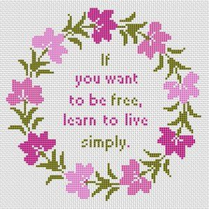 Live Simply cross stitch pattern