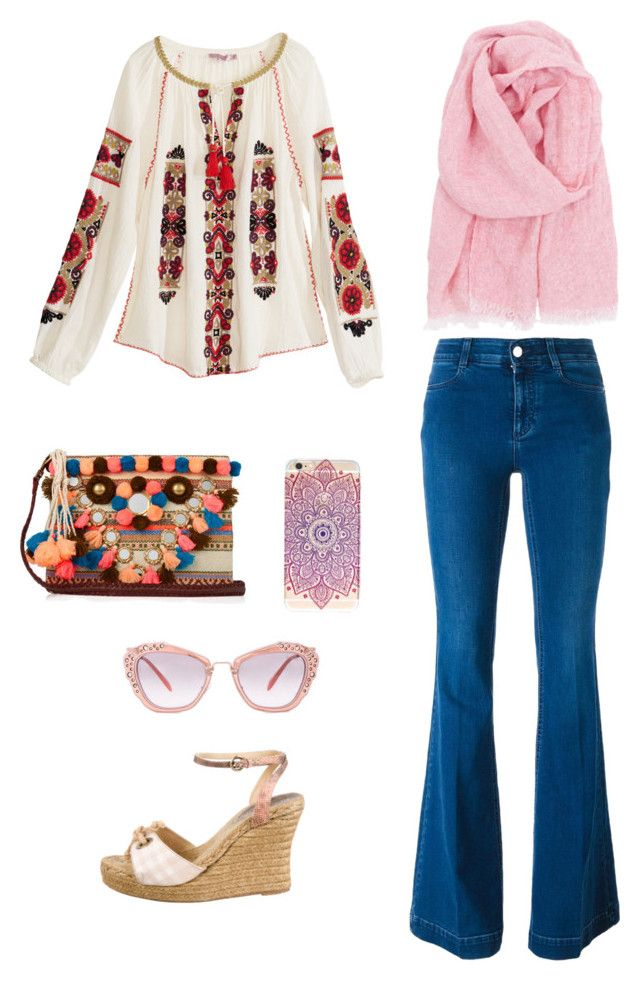 """""""Hang Out"""" by ana-rizki on Polyvore featuring Calypso St. Barth, STELLA McCARTNEY, Burberry, Figue, Lapuan Kankurit and Miu Miu"""