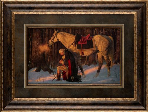 Classically Framed, This Piece Of Art, Prayer At Valley Forge, Is Able To