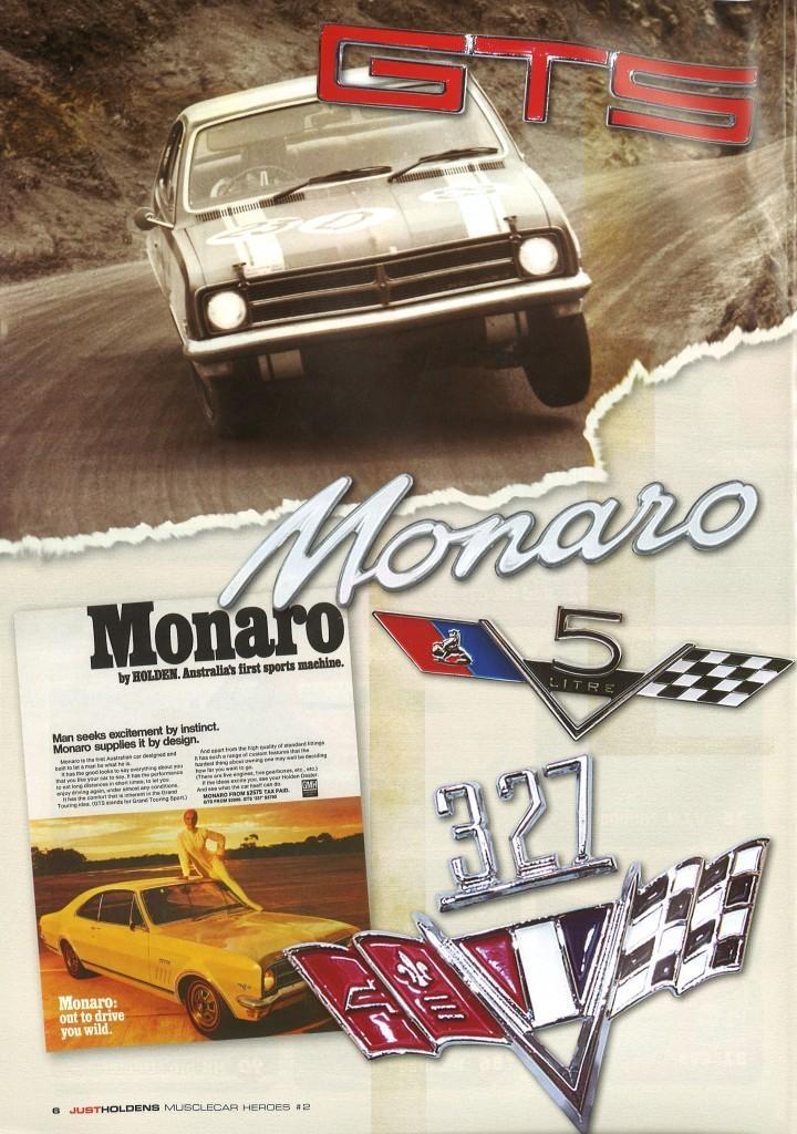 The legendary GTS shown at Bathhurst.  The Monaro logo is so timeless.