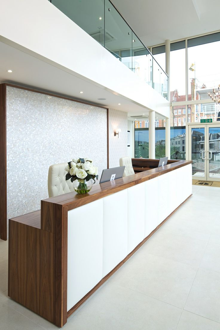 Reception Desk With Padded Front And Logo Reception Desk