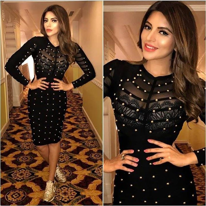 Shama Sikander in Outfit by Hérve Léger Shoes by Converse ## #instylediaries #instastyle #fashion #fashionista #fashionblogger #celebrityfashion #celebstyle #beauty #fashiondesigner #fashionbloggers #style #stylist #bollywoodfashion #indianfashion #l