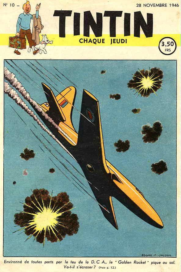 Journal de TINTIN édition Belge N° 10 du 28 Novembre 1946 - le secret de l'Espadon