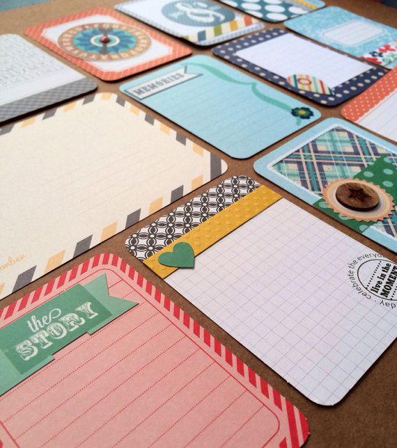 Dozen Beautiful Handmade Project Life Cards 3x4