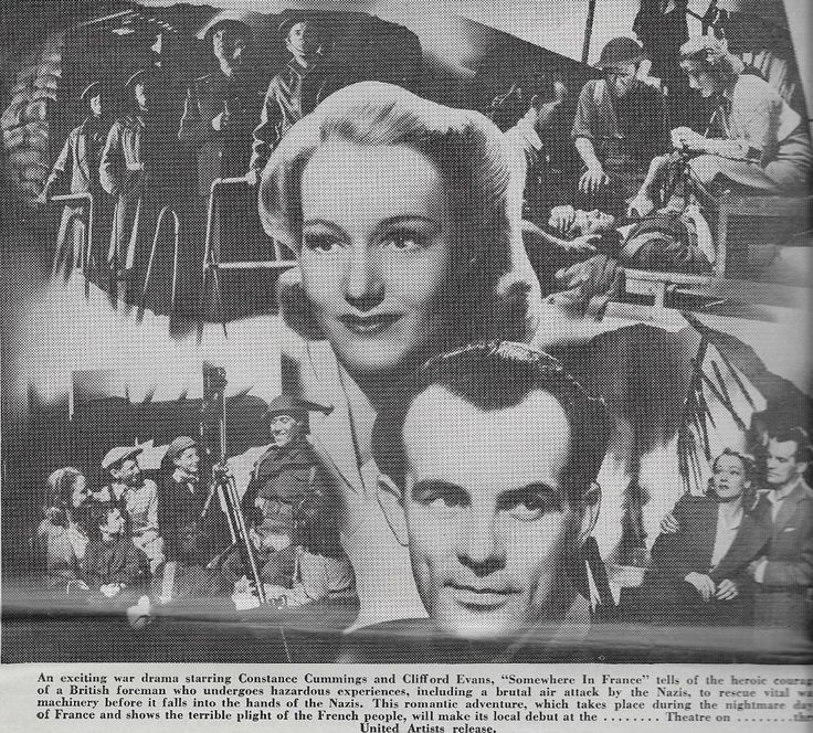 Constance Cummings, Clifford Evans, Robert Morley, and Tommy Trinder in The Foreman Went to France (1942)