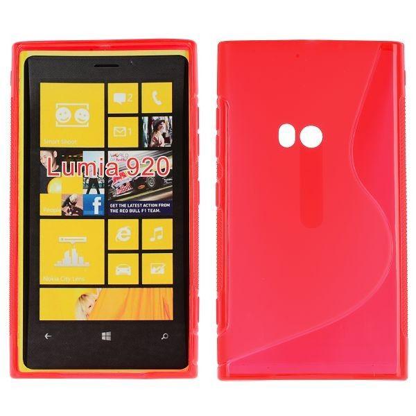 S-Line Läpikuultava (Punainen) Nokia Lumia 920 Suojakuori