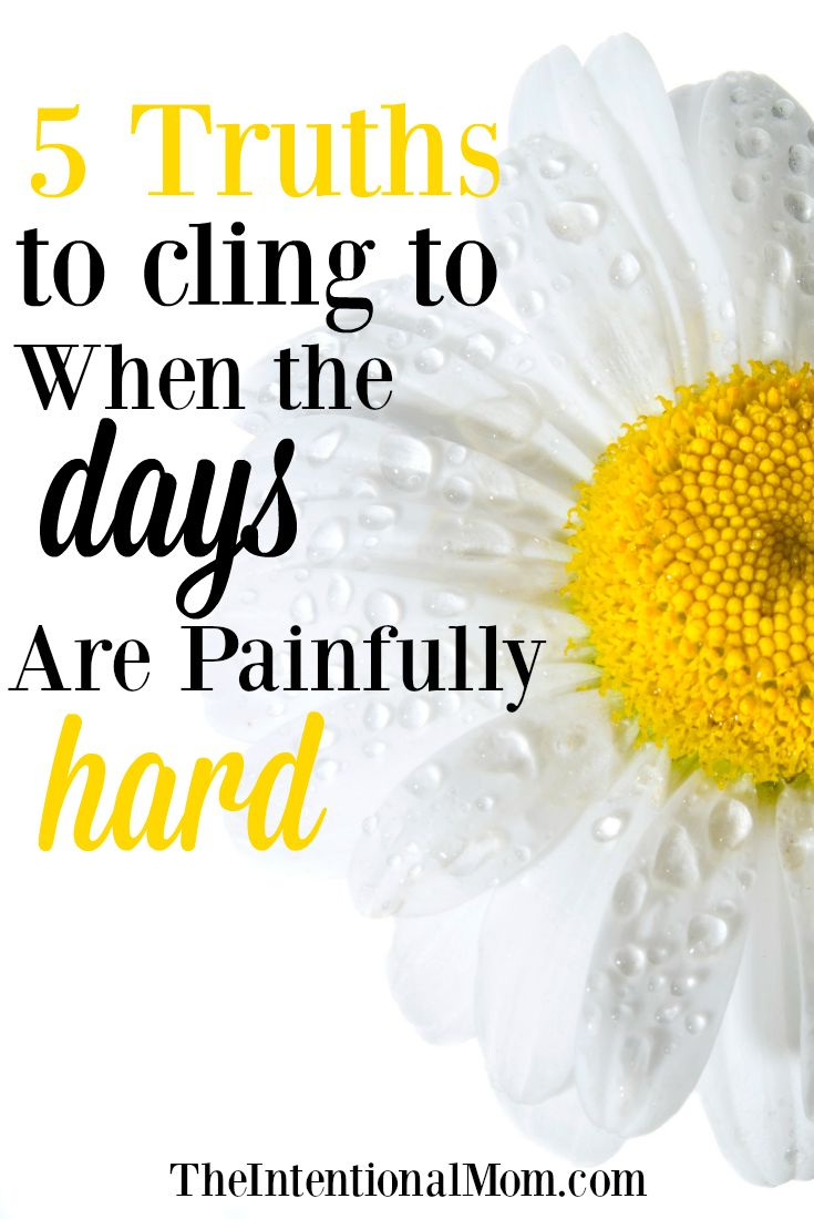 Are you longing for some truths for when the days are painfully hard? Although trials challenge us, they don't have to break us. Here's help via @www.pinterest.com/JenRoskamp