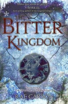 The Bitter Kingdom by Rae Carson. In the epic conclusion to Carson's Girl of Fire and Thorns trilogy, 17-year-old sorcerer-queen Elisa will travel into the unknown realm of the enemy to win back her true love, save her country, and uncover the final secrets of her destiny.